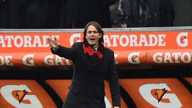 Kouč AC Milán Filippo Inzaghi.