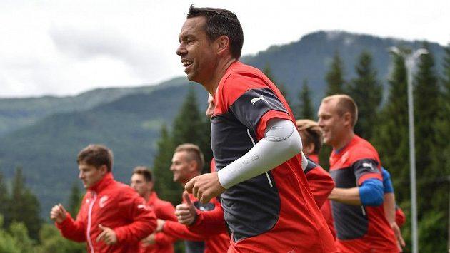 Pavel Horváth během tréninkového výběhu fotbalistů Plzně.