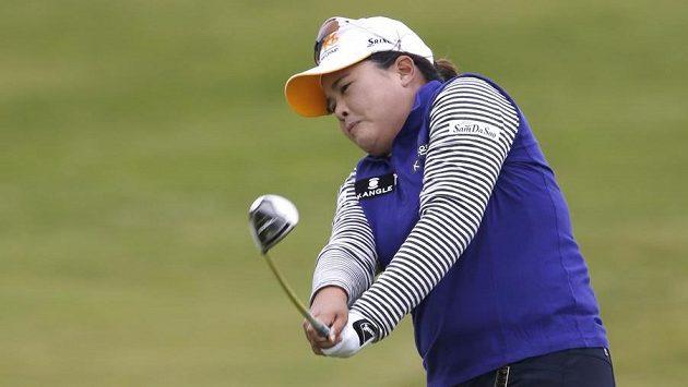 Jihokorejská golfistka Pak In-pe na hřišti v Turnberry.