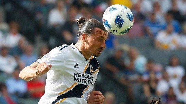 Zlatan Ibrahimovic v dresu Los Angeles Galaxy.