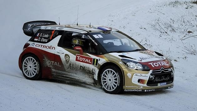 Sébastien Loeb na trati Rallye Monte Carlo