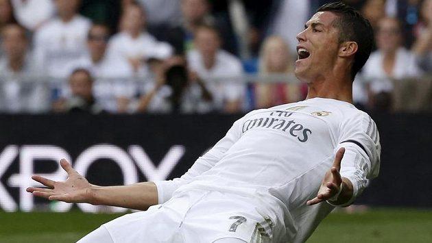 Cristiano Ronaldo jásá po trefě v ligovém utkání proti Levante.
