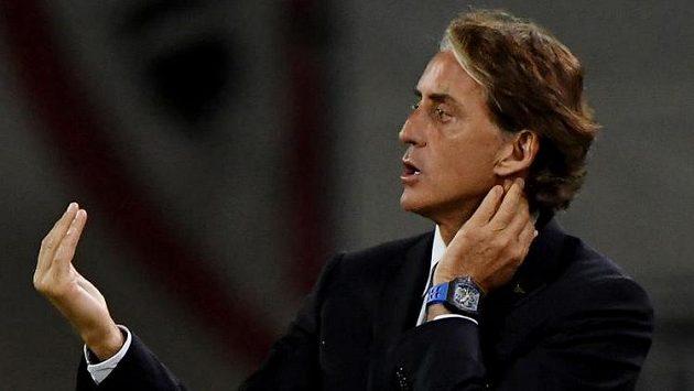 Italský kouč Roberto Mancini
