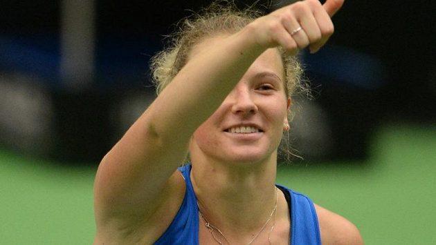 Kateřina Siniaková mohla být se svým výkonem spokojená (archivní foto)