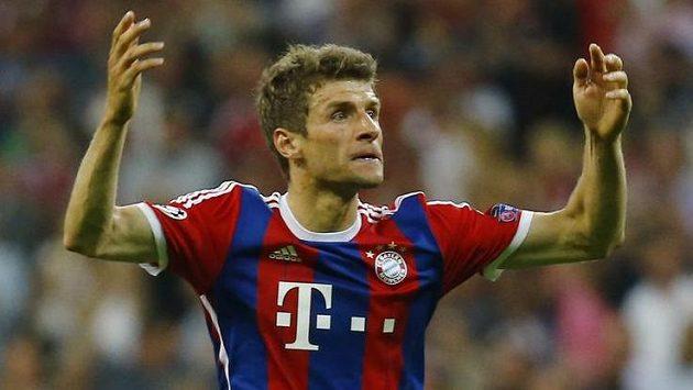 Autor vítězné trefy Bayernu Thomas Müller.