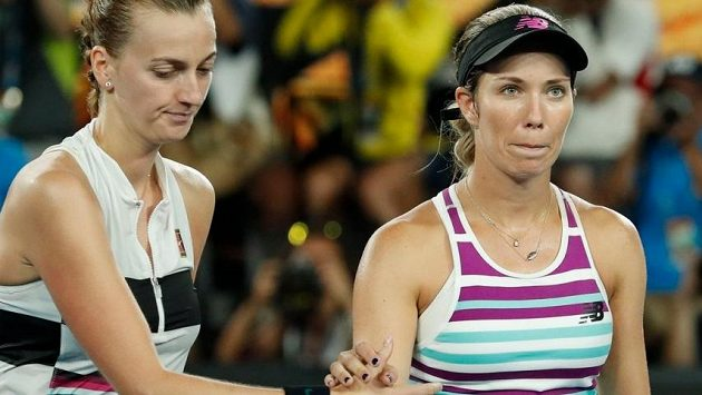 Danielle Collinsová po semifinálovém souboji s Petrou Kvitovou na Australian Open.