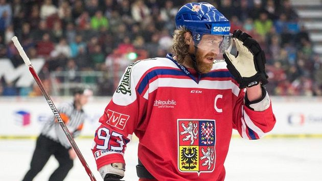 Kapitán českého týmu Jakub Voráček během utkání s Finskem.