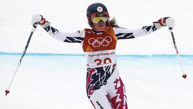 Česká lyžařka Kateřina Pauláthová v cíli kombinačního slalomu neskrývala spokojenost.
