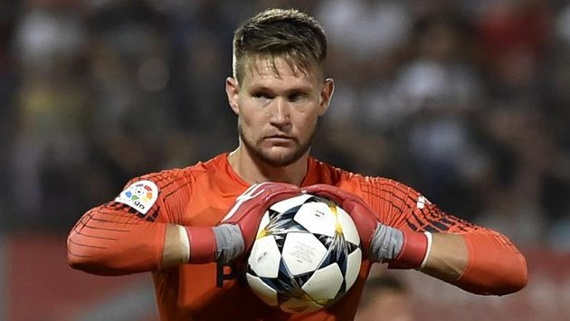 Reprezentační fotbalový brankář Tomáš Vaclík.