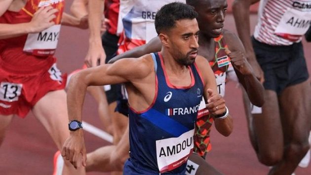 Morhad Amdouni během závodu na 10 kilometrů