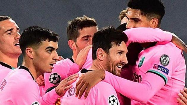 Fotbalisté Barcelony. Ilustrační foto