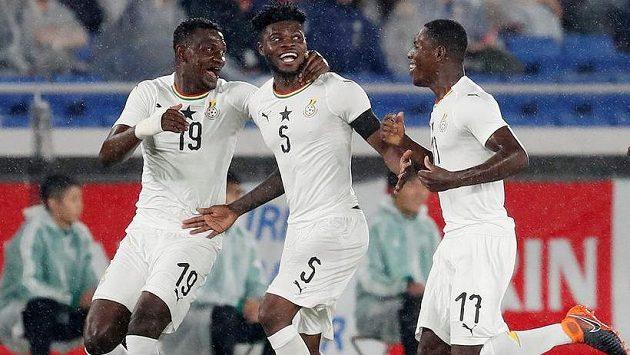 Fotbalisté Ghany - ilustrační foto.