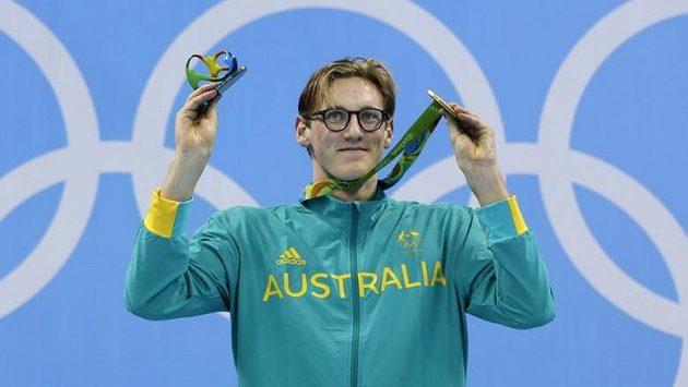 Australský olympijský vítěz v závodu 400 metrů volně Mack Horton.
