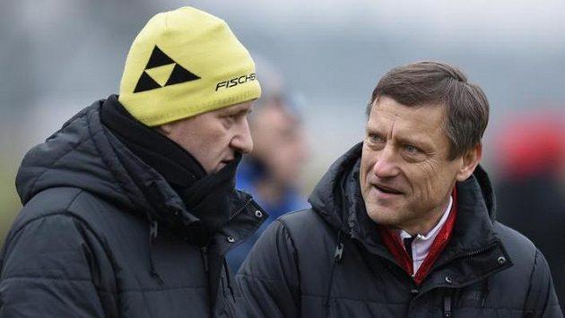 Trenéři Josef Csaplár (vlevo) a Jiří Kotrba v Liberci končí...