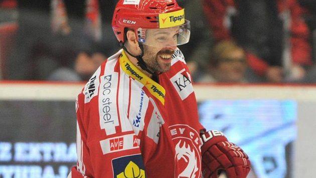 Třinecký útočník Jakub Klepiš vstřelil v utkání proti Zlínu vítězný gól.