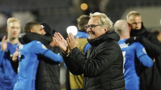 Trenér Islanďanů Erik Hamrén po zápase s Rumuny.