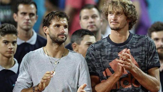 Grigor Dimitrov a Alexander Zverev během Adria Tour
