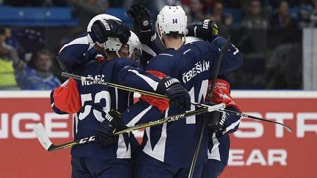 Radost plzeňských hokejistů v Lize mistrů