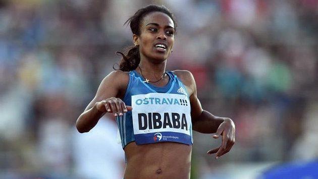 Běžkyně Genzebe Dibabaová na atletickém mítinku Zlatá tretra v Ostravě.