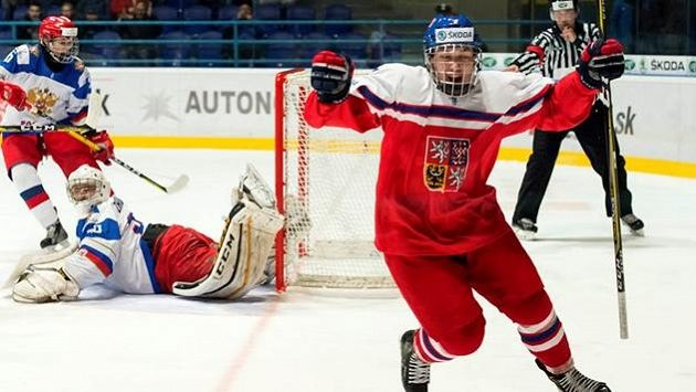 David Kvasnička slaví gól proti Rusku v reprezentačním mládežnickém týmu - archivní snímek.