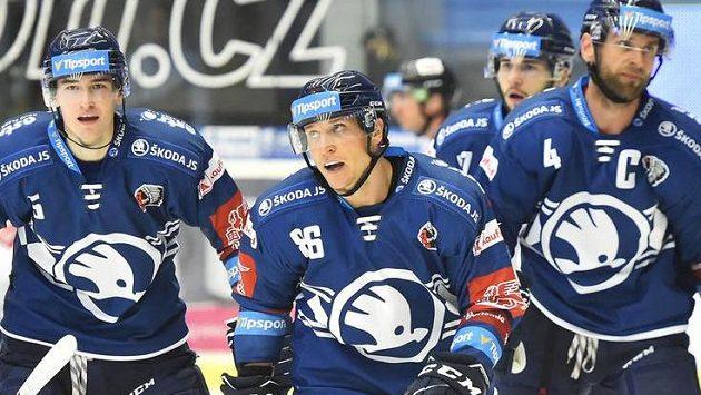 Hokejisté Plzně vyhráli v extralize na ledě Litvínova.