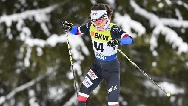 Kateřina Razýmová při závodu SP v Davosu.