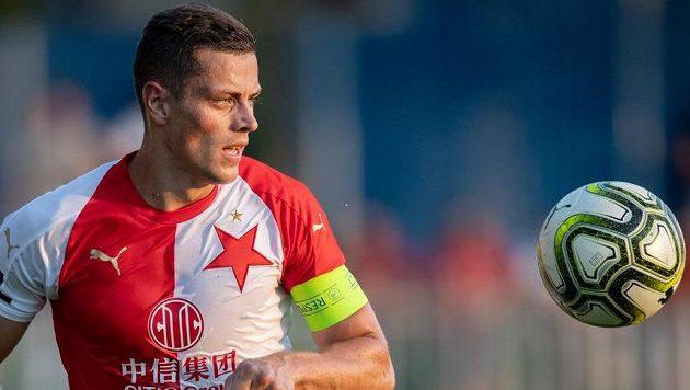 Tomáš Holeš dal vítězný gól Slavie.