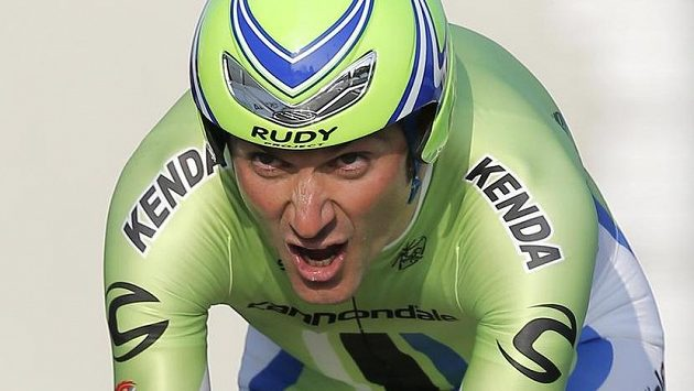 Cyklista Ivan Basso.