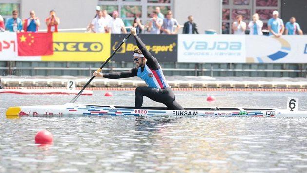 Kanoista Martin Fuksa při Světovém poháru v Poznani.