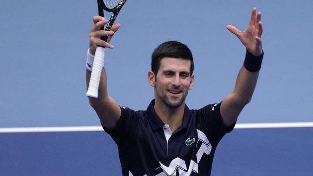 Novak Djokovič slaví postup do třetího kola turnaje ve Vídni