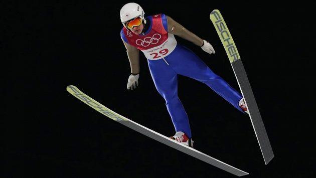 Tomáš Portyk při skokanské části závodu sdruženářů.