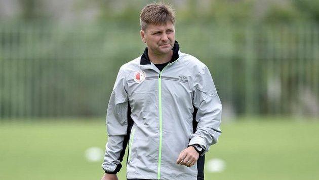 Nový trenér Slavie Praha Dušan Uhrin mladší během zahájení letní přípravy v Horních Počernicích.
