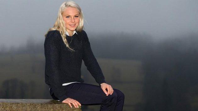 Barbora Havlíčková - česká běžkyně na lyžích je výborná také v běhu do vrchu.
