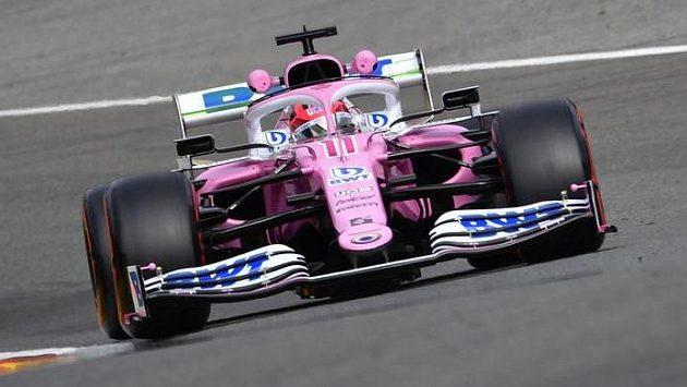 Mexičan Sergio Pérez s vozem Racing Point ve Spa-Francorchamps.