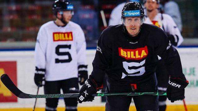 Marek Kvapil na tréninku hokejové Sparty.