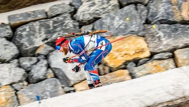 Český biatlonista Michal Šlesingr při štafetě SP v Pchjongčchangu.