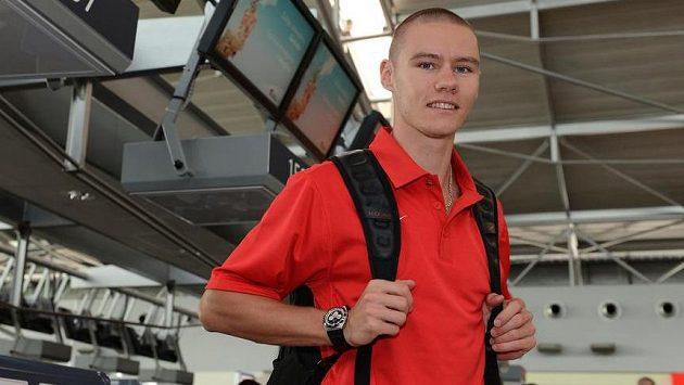 Čtvrtkař Pavel Maslák před odletem na mistrovství světa v Moskvě.