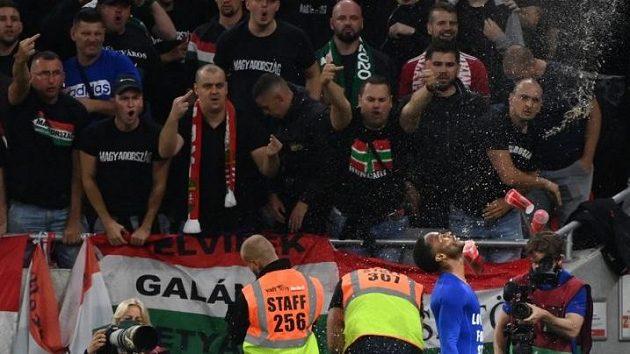 Maďarští fanoušci během utkání svého týmu proti Anglii