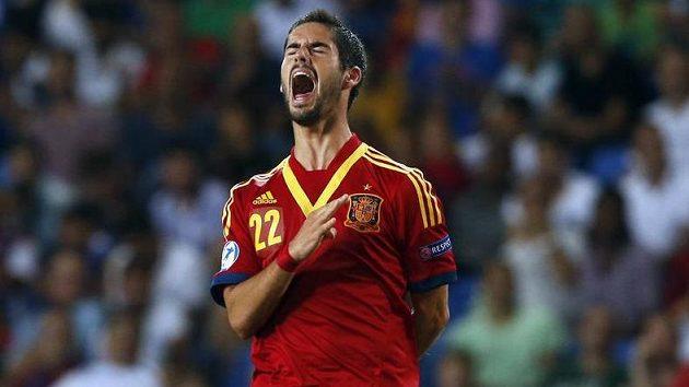Španělský fotbalista Isco v reprezentačním dresu do 21 let.