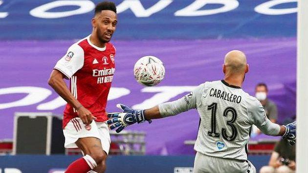 Pierre-Emerick Aubameyang z Arsenalu. Ilustrační foto.