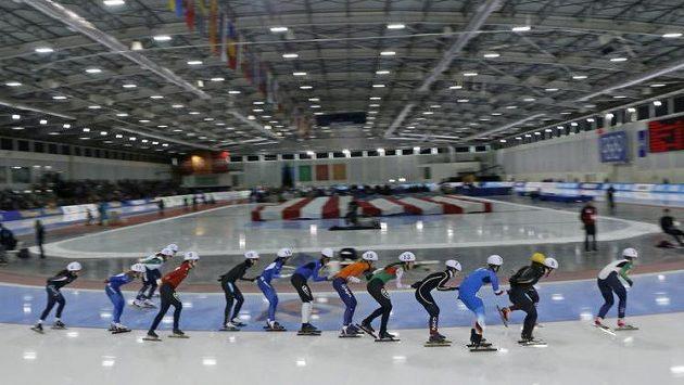 Olympijský rychlobruslařský ovál v Salt Lake City.