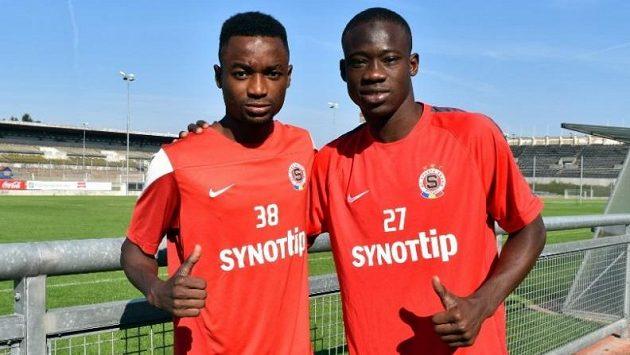 Sparta má další dva hráče z Pobřeží slonoviny. Zleva Baba Lamine Traoré a Youssouf Dao