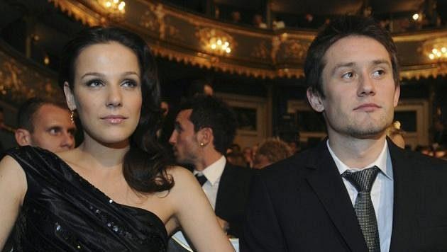 Radka Kocurová a Tomáš Rosický při vyhlašování ankety Fotbalista roku před dvěma lety.