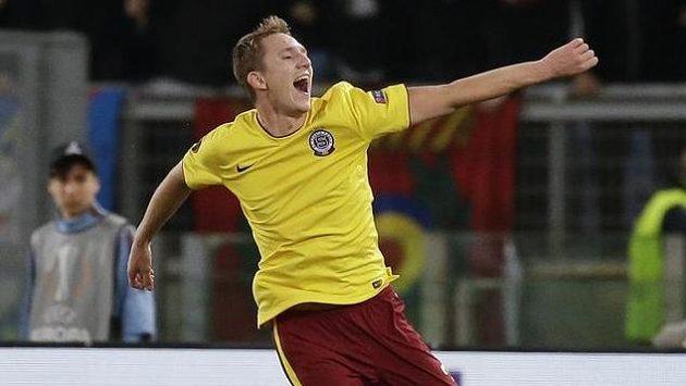 Lukáš Juliš, autor třetího gólu Sparty na Stadio Olimpico.