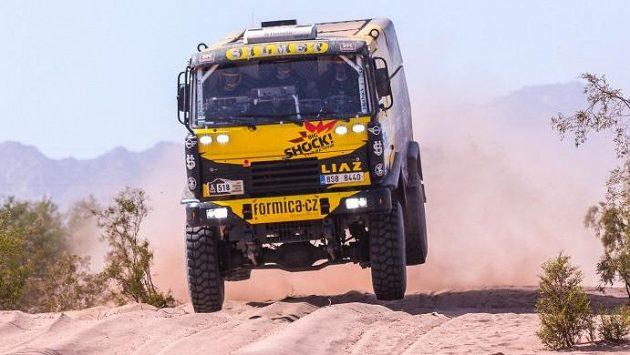 Macíkův Franta na trati Dakaru.