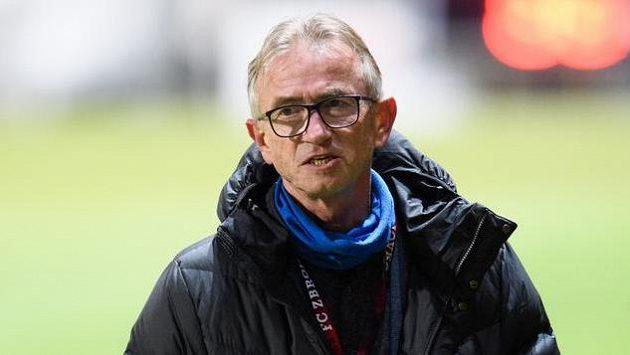 Bývalý trenér Zbrojovky Brno Miloslav Machálek během utkání 11. kola Fortuna ligy proti Pardubicím.