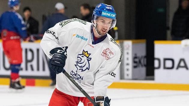 Ondřej Roman během tréninku národního týmu v prosinci 2018.