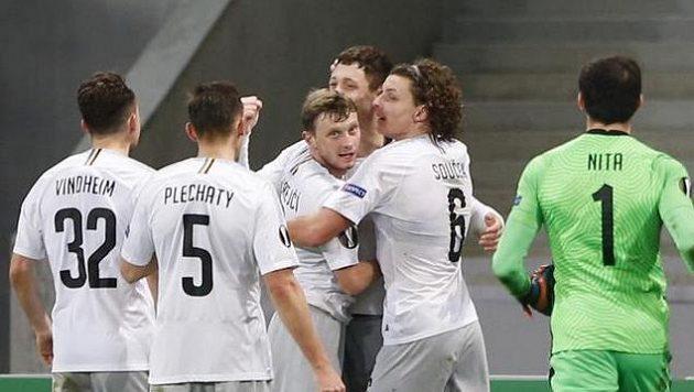 Radost Sparty z vedoucího gólu v Lille.