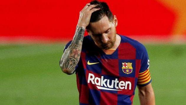 Lionel Messi byl po porážce s Pamplonou hodně zklamaný