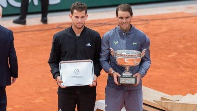 Finalisté posledního ročníku French Open Dominic Thiem a Rafael Nadal